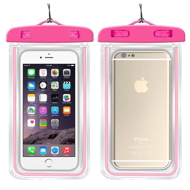 Brand new Universal waterproof phone bag night luminous