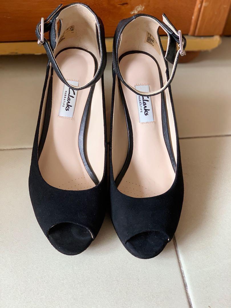 527a00c1f67 Clarks Kendra Ella Suede Pumps Block Heels