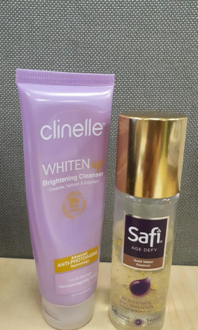CLINELLE cleanser wash dan SAFI essence age defy skincare 10 ml share in bottle
