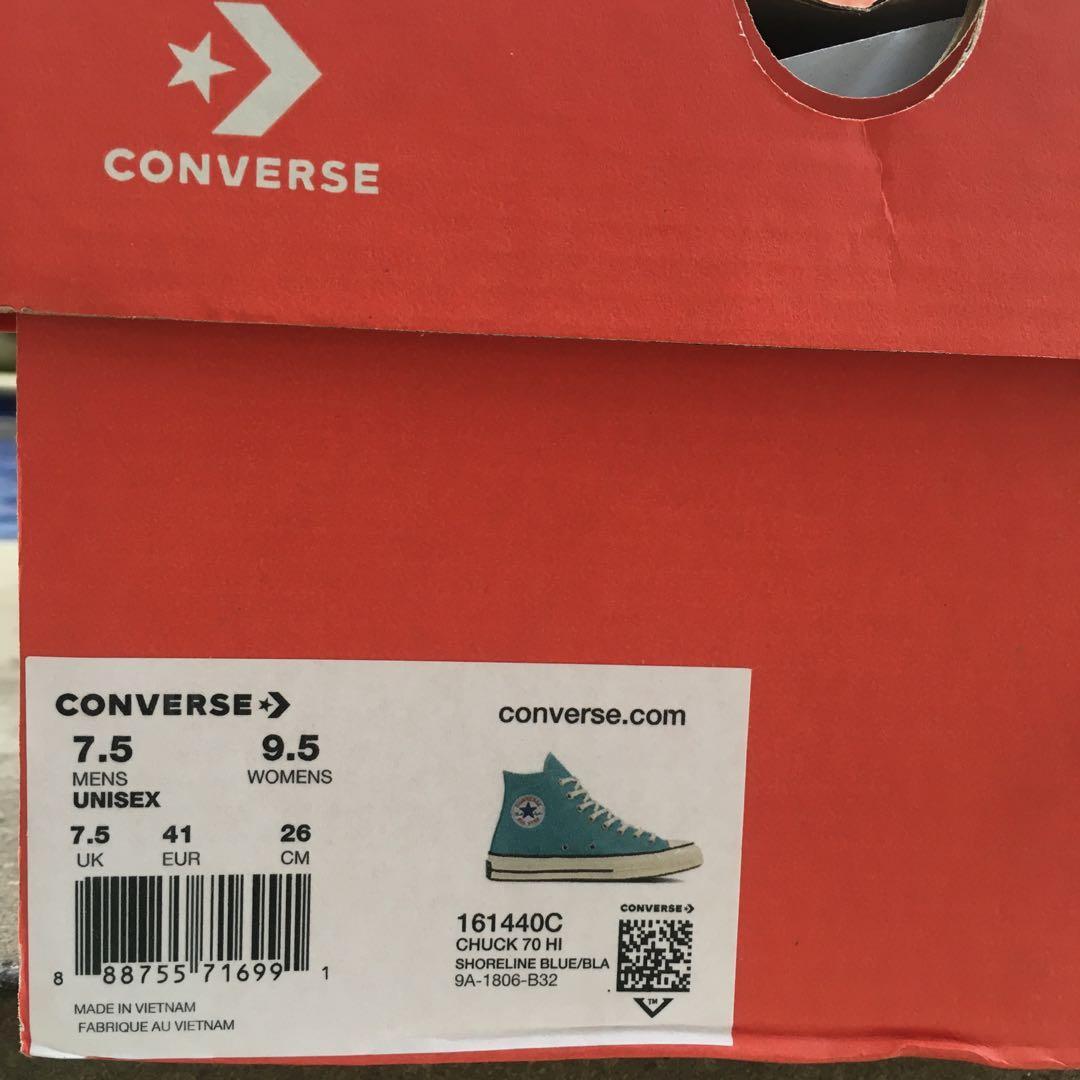Converse CTAS 70s Hi Shoreline Blue/Black/Egret (Original 100%) bkn BW Black/White