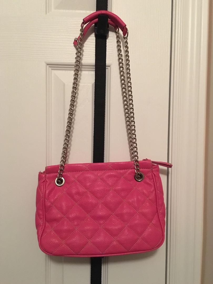 Double shoulder straps with 10 inch drop Pink Nine West bag