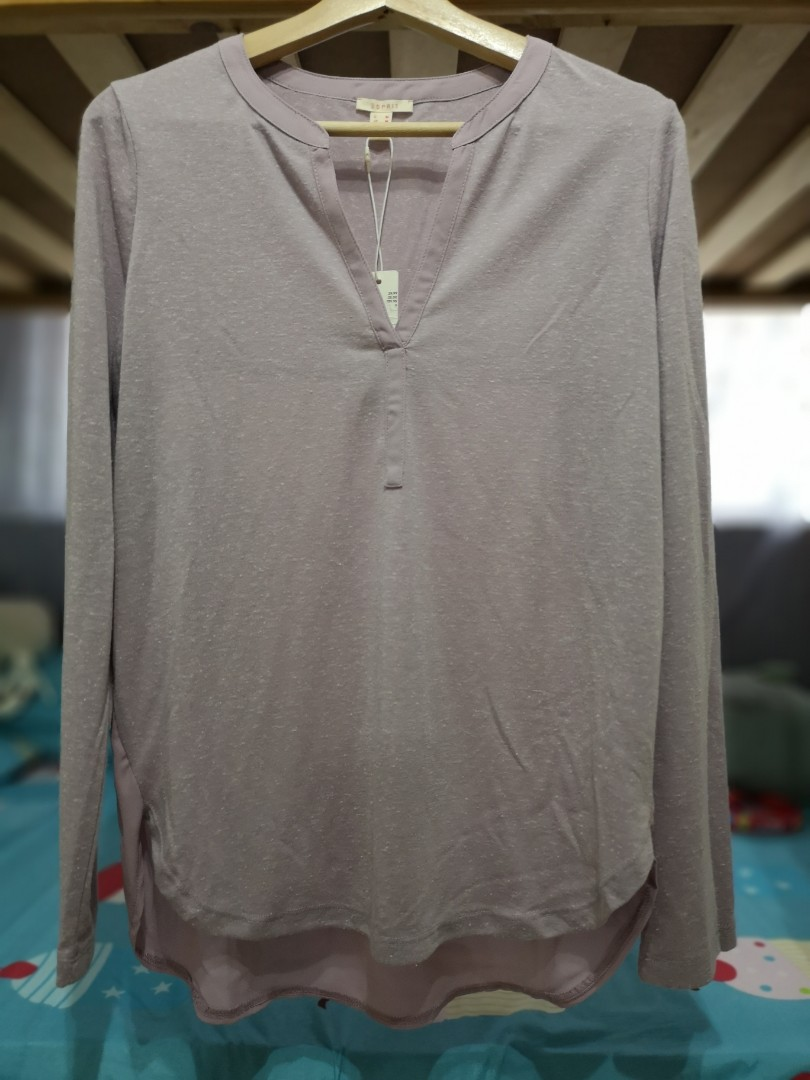 ed09c751309e7 ESPRIT Brand New Medium Dark Purple Long Sleeves Shirt $19 (from $46)
