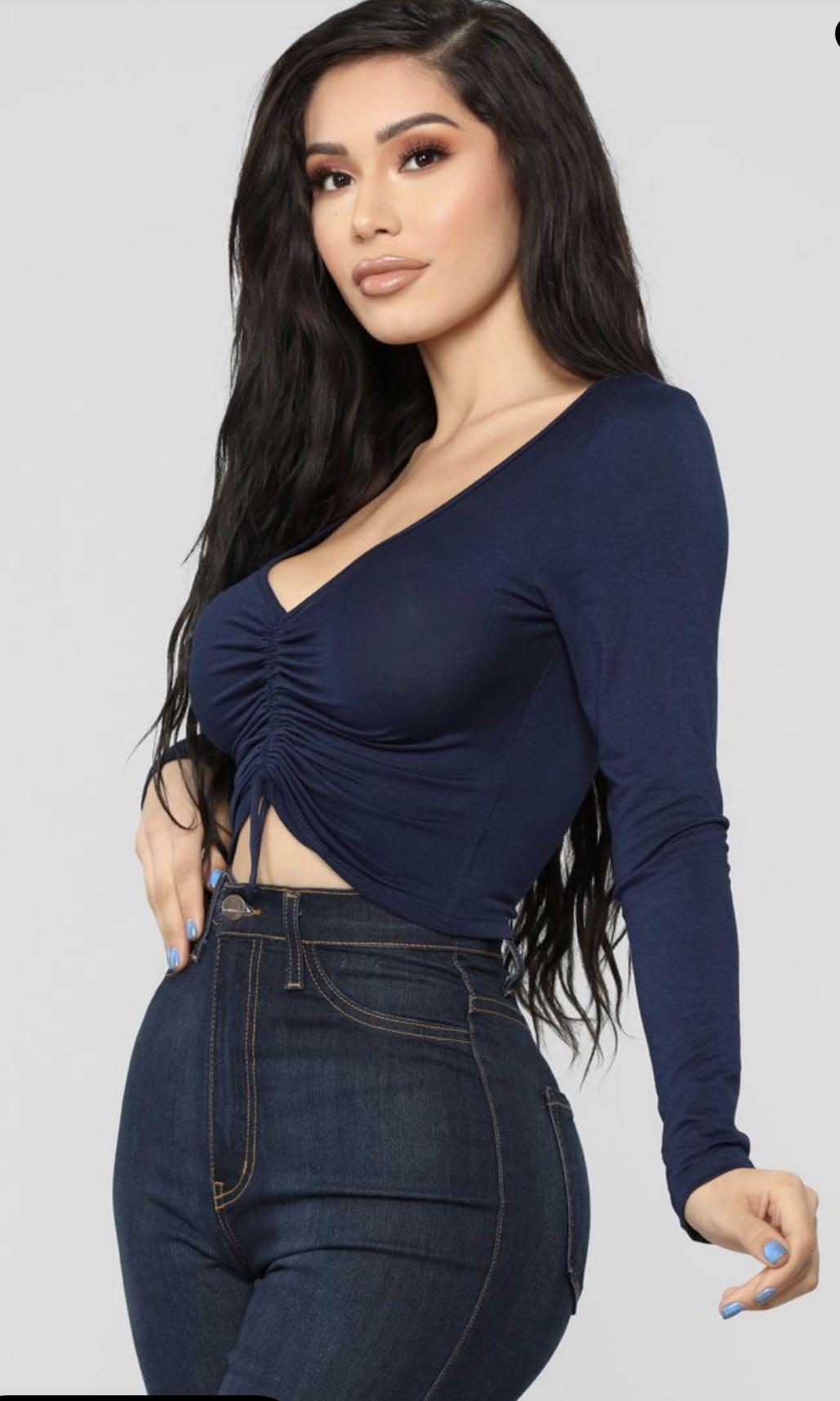 Fashion Nova Sierra Ruched Crop Top
