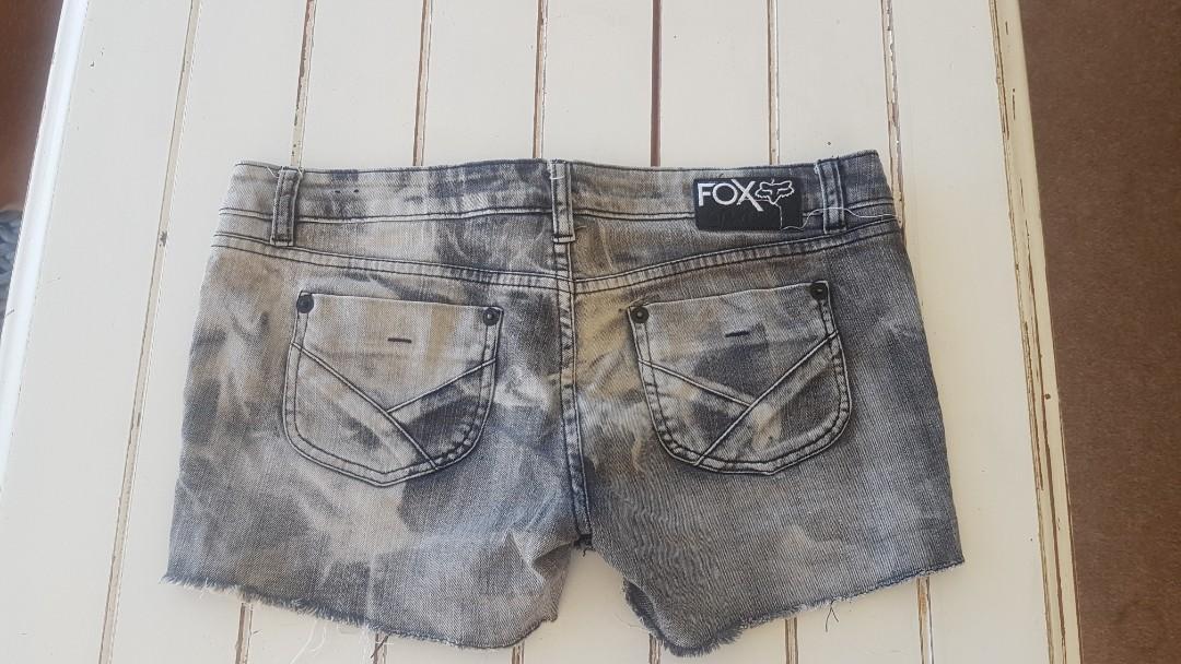 Fox denim shorts size 10