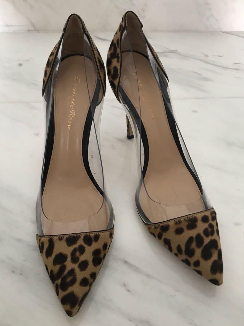 35d7b49acd79 Gianvito Rossi Leopard Print Plexi Pumps, Women's Fashion, Shoes on ...