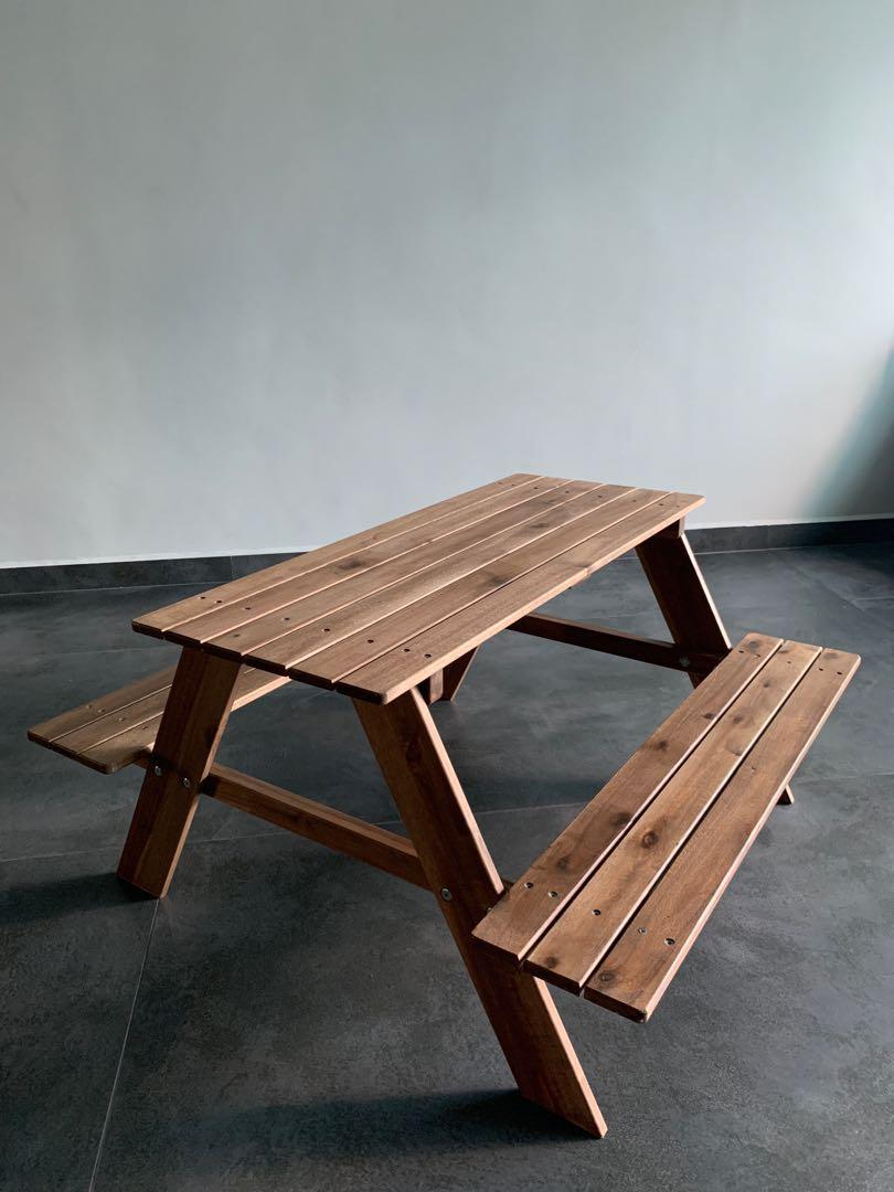 Marvelous Ikea Reso Children Kids Picnic Table Bench Furniture Unemploymentrelief Wooden Chair Designs For Living Room Unemploymentrelieforg