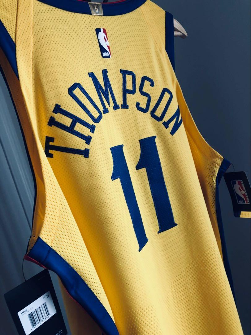 Klay Thompson GSW 2018 Nike Chinese Heritage Jersey The Bay AUTHENTIC Jersey Size L