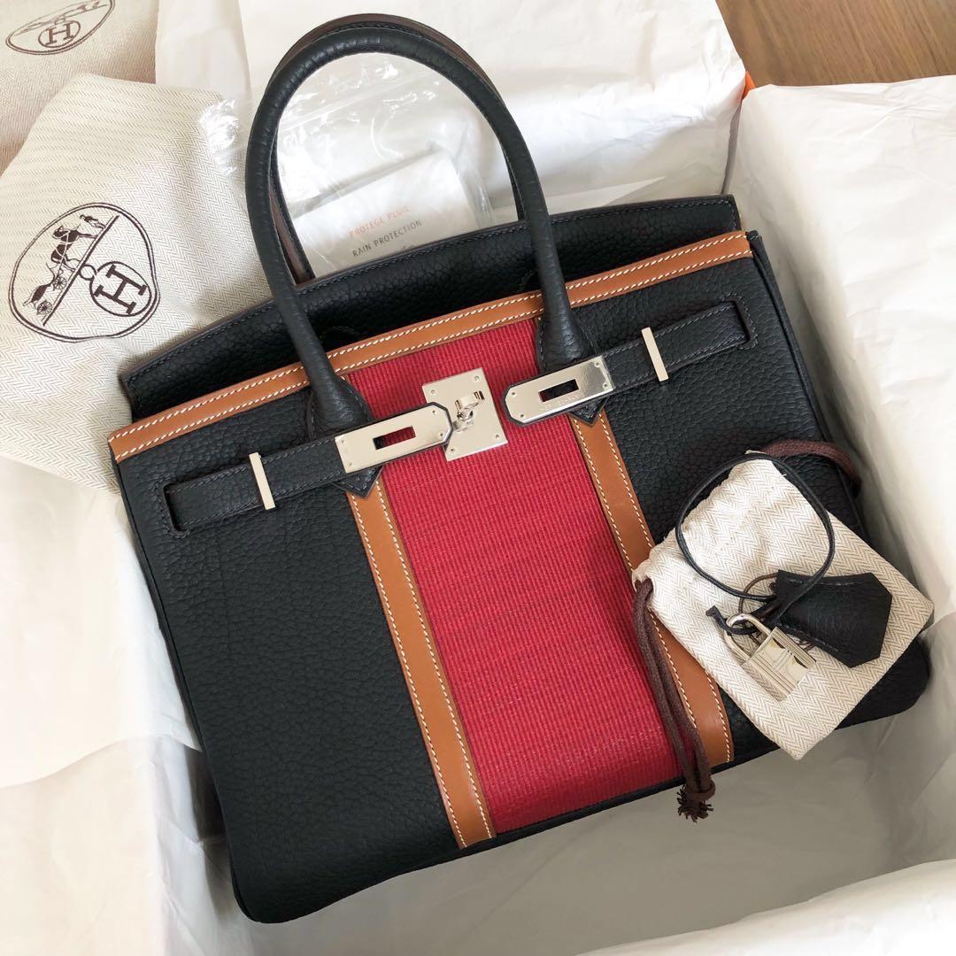 ce178cd338 Like New Hermes Birkin 30 Club Indigo Rouge Casaque Barenia Fjord ...
