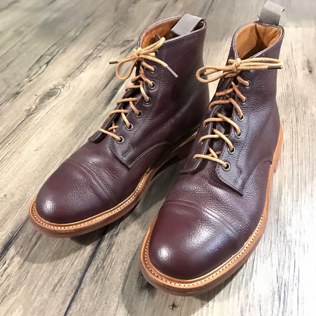827aab5f46298 Mark Mcnairy Burgundy Pebbled Grain Captoe Boot - UK 8   US 9 ...
