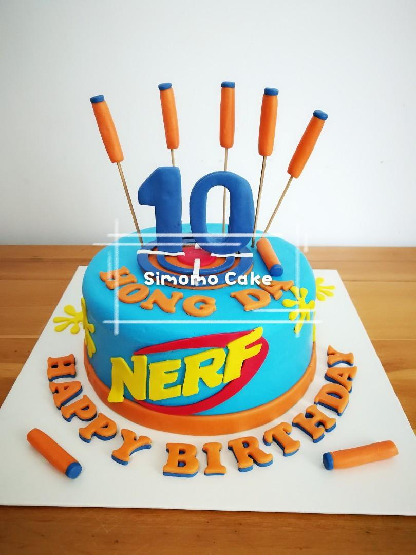 Fantastic Nerf Cake Nerf Gun Cake Game Cake Free Delivery Food Drinks Personalised Birthday Cards Veneteletsinfo