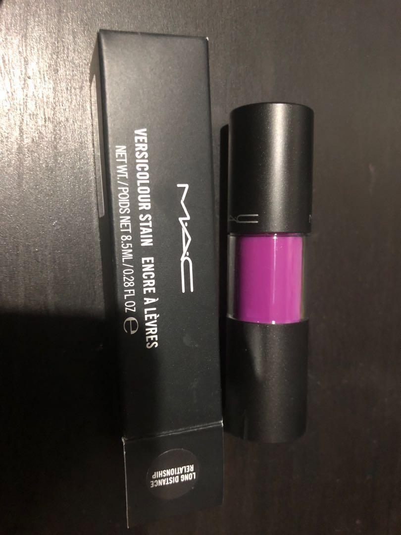 New MAC versicolour stain in energy shot and long distance relationship
