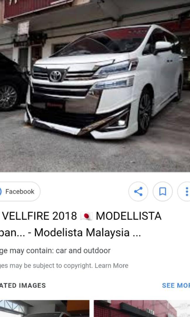 Original Toyota Vellfire 2 5L 3 5L V6 2018 2019 Facelift