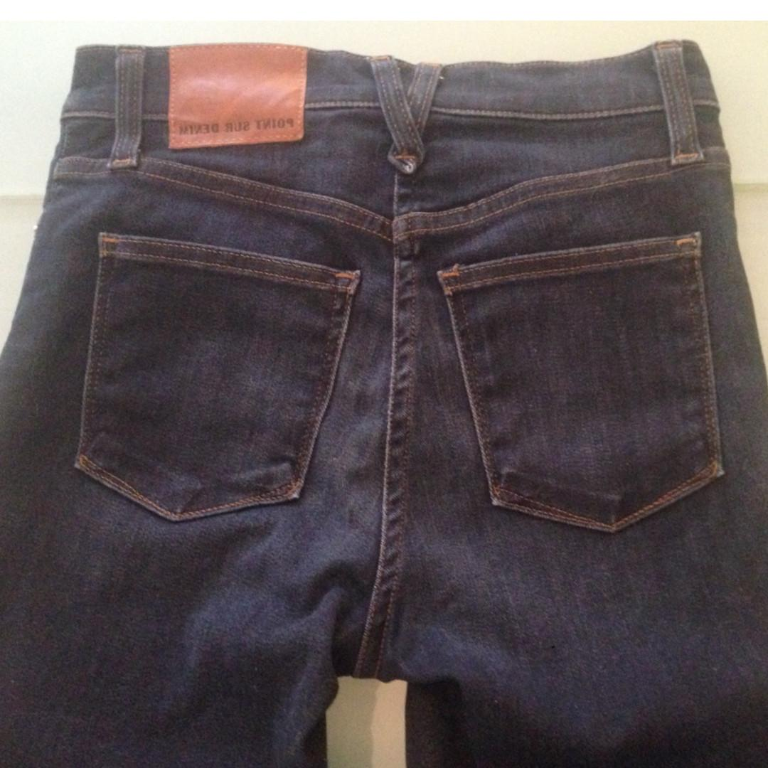 Point Sur High-rise Skinny Jeans Dark Rinse Size 24