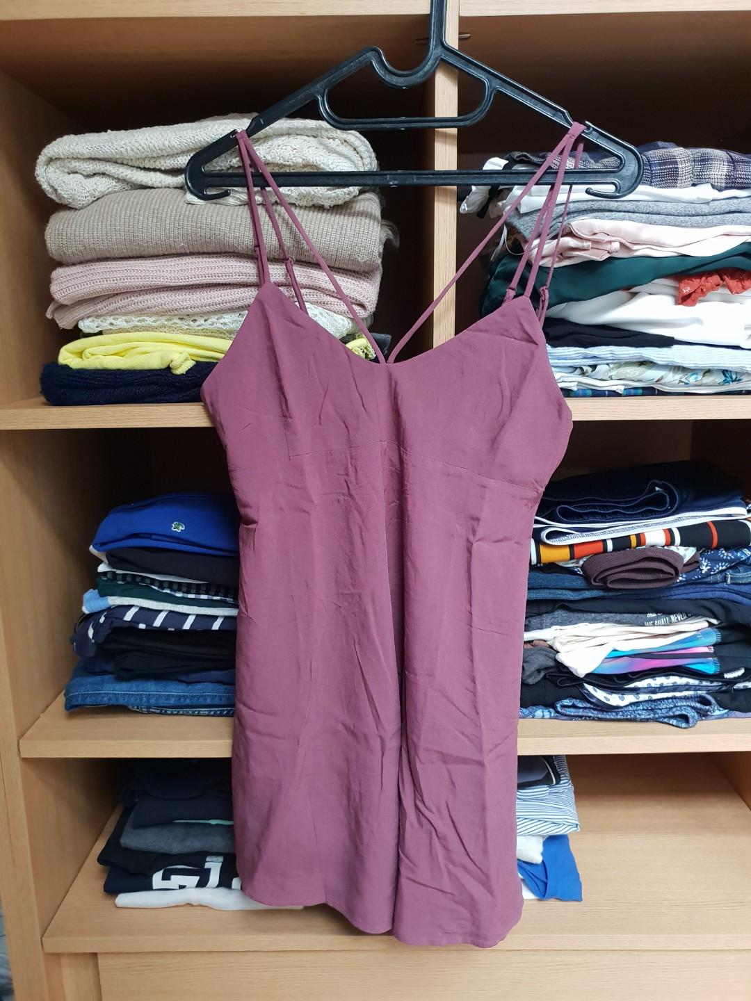 Pull&Bear pacific girls collection short plum romper with chest details