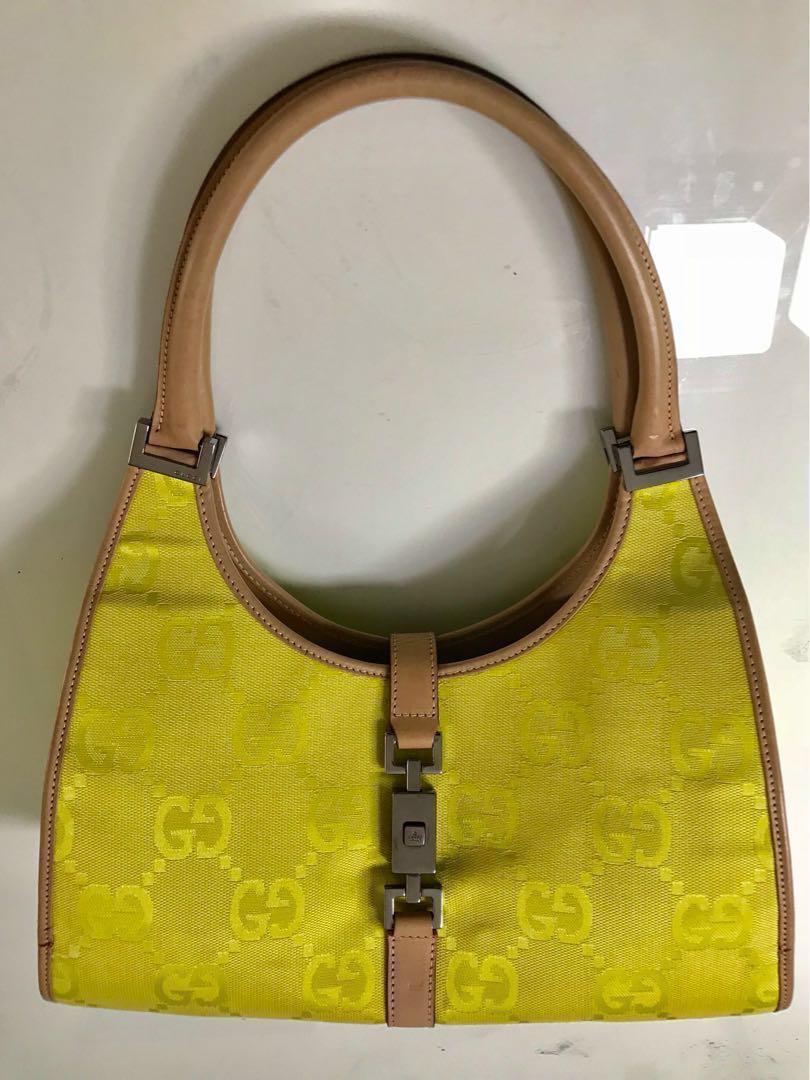 f89610f303 Repriced!!!! 💯 Vintage Gucci Jackie O Bardot Bag, Women's Fashion ...