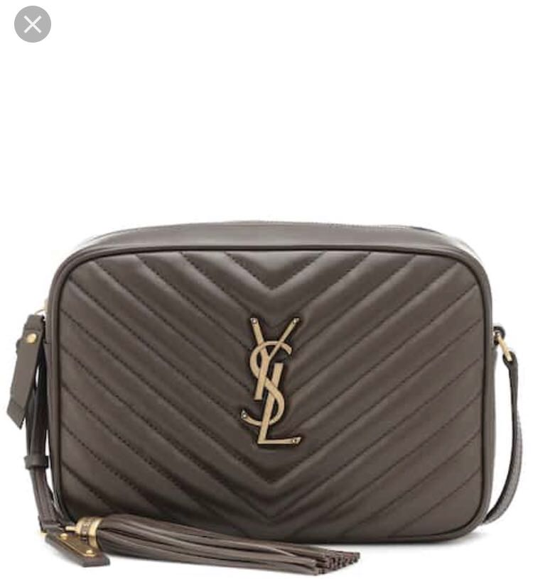 78a35d5f29 Saint Laurent YSL Lou Camera Bag size medium in brown with gold ...