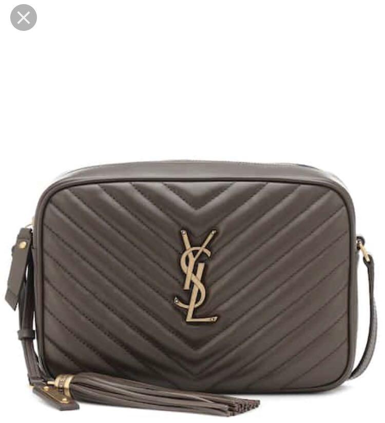 16205feb7cfd Saint Laurent YSL Lou Camera Bag size medium in brown with gold ...