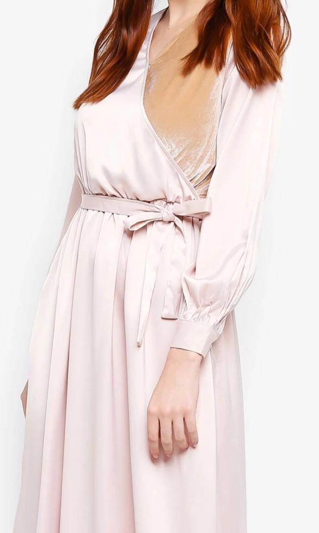 Satin Wrap Dress Mewah