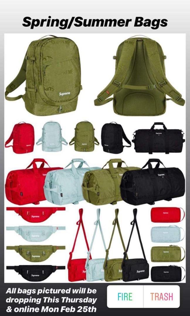 b366683deb9c Supreme ss19 week1 bags