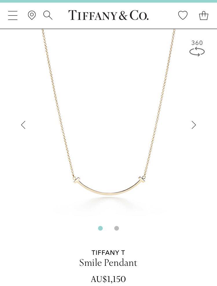 9ed7e3491 Tiffany T Smile Pendant Authentic in 750 18k Gold, Luxury ...