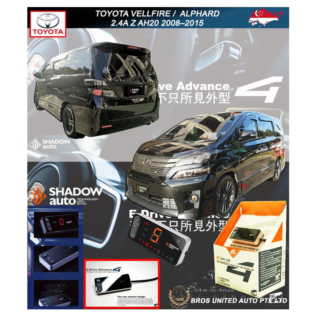 Toyota Vellfire / Alphard 2 4A Z AH20 2008–2015 ( Shadow E drive advance 4  E throttle controller )
