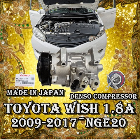 Toyota Wish 2009 2017 Zge20 1 8 2 0 Denso Compressor Made In Japan Car Air Con Service