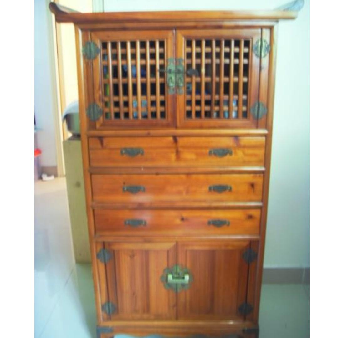 Traditional Antique Japanese Handmade Cabinet
