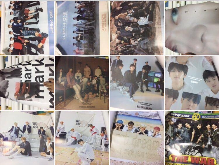 [WTS] VARIOUS OFFICIAL POSTER (EXO NCTDREAM NCT127 NCT2018 SEVENTEEN WANNAONE)