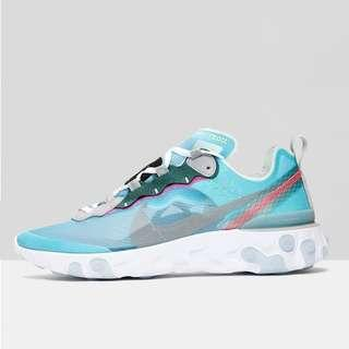 US 9.5 Nike React Element 87 Royal Tint