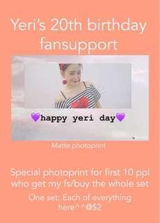 🚚 Yeri birthday fansupport