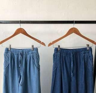 CULOTTES ( dark & light blue )