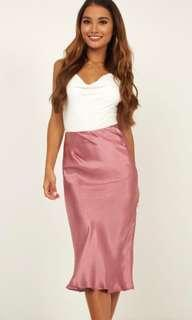 Mid length silk skirt - tag still on