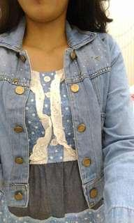 Crop denim outer only