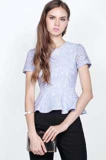 🚚 Fayth Soiree Lace Peplum Top  In pastel lilac