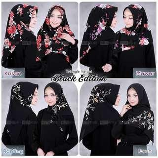 🚚 PO Instant black edition hijab