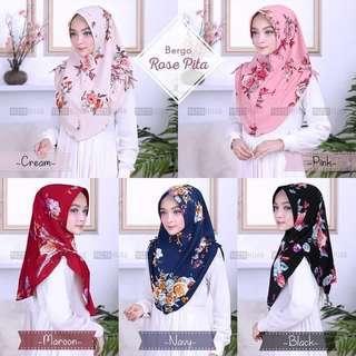 🚚 PO Rose pita hijab