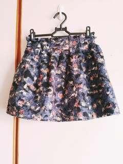 🚚 🔸韓::印花渲染油畫感褲裙