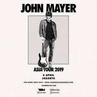 TIKET (tickets) JOHN MAYER