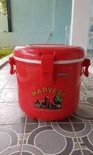 Termos es batu buah cooler jualan freezer HARVEST beras nasi 15 liter muat banyak merah dagang lion star bulat besar