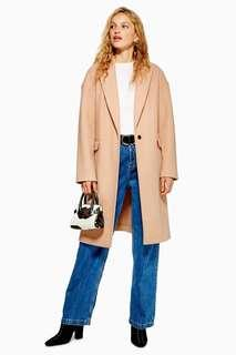 WORN ONCE TOPSHOP Camel Coat