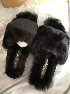 Jessica Simpson Fur Slippers