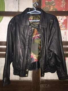 Vintage Leather Jacket Made in Italy