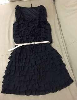 Ruffle party dress (Black) !黑色 派對裙(雪紡料) very comfortable!