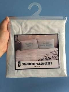 Bn typo standard pillow cover/case (set of 2)