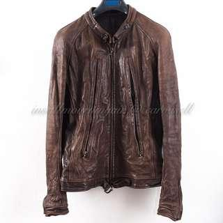 "Julius _7 ""UNTITED"" Elongated Zip Riders Leather Jacket (2)"