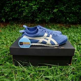 Onitsuka tiger mexico 66 slip on blue ivory