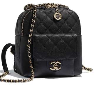d773828e7175 19C LNIB 2019 Chanel Latest Backpack Classic Black Caviar Ghw  27