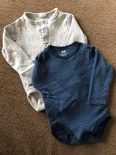 H&M Baby Romper long sleeve x2