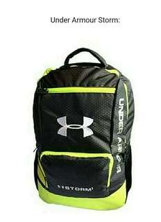 (Stock on 20Apr-3)Under Armour Storm backpack