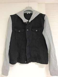 H&M牛仔拼布外套